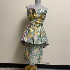 Vintage Victor Costa Strapless Dress